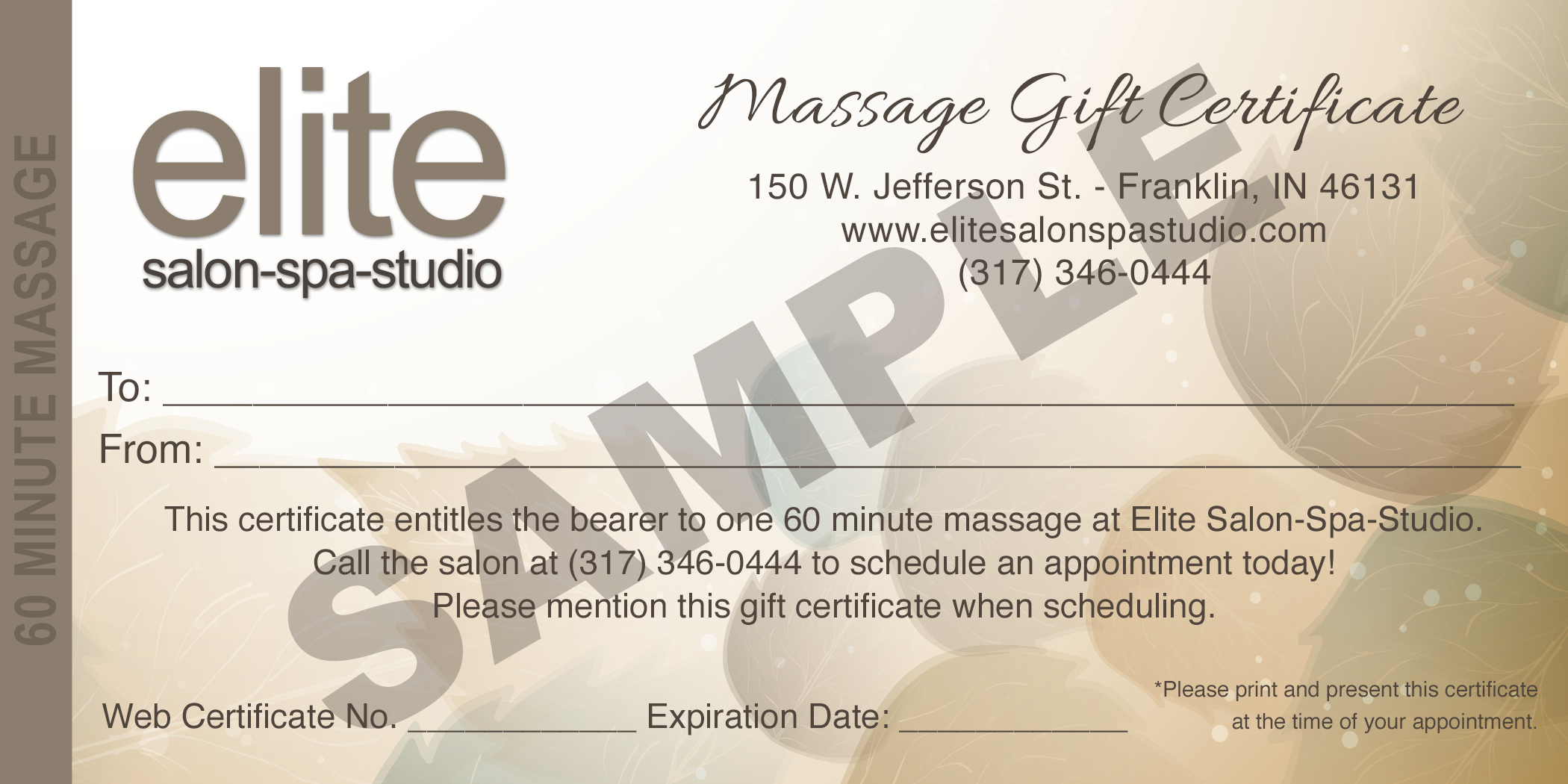 massage gift certificate template printable massage gift
